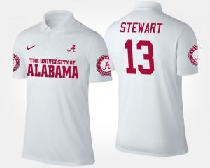 ArDarius Stewart College Polo White University of Alabama #13 Men's
