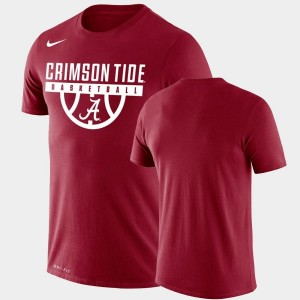 Performance Basketball Alabama Crimson Tide Drop Legend Crimson College T-Shirt For Men