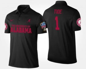 Bowl Game For Men #1 No.1 Sugar Bowl College Polo Black Alabama Crimson Tide