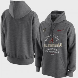 Charcoal Football Playoff 2017 National Champions Celebration Victory College Hoodie Mens Alabama Roll Tide Bowl Game