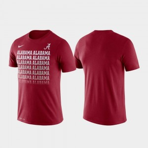 University of Alabama Crimson College T-Shirt For Men's Performance Fade