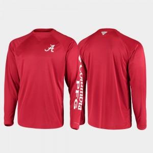 Omni-Shade College T-Shirt PFG Terminal Tackle Long Sleeve Men Crimson Alabama
