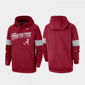 Roll Tide College Hoodie Crimson Mens Performance Pullover