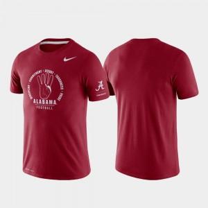 College T-Shirt Tri-Blend Performance Rivalry Men's Crimson Bama