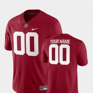 #00 Crimson Alabama Football 2018 Game Men's College Customized Jersey