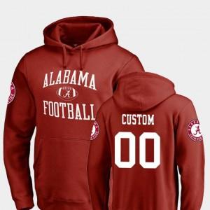 #00 Neutral Zone Football Alabama Roll Tide College Custom Hoodie Mens Crimson