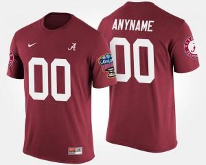 Men's #00 Sugar Bowl Bama Crimson Bowl Game College Custom T-Shirts