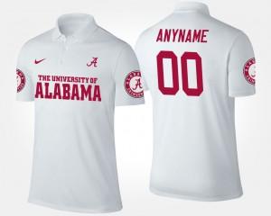 White Alabama Crimson Tide Men College Customized Polo #00