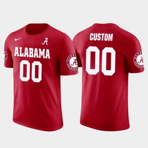 College Custom T-Shirt Red Alabama Crimson Tide #00 Future Stars Men Cotton Football