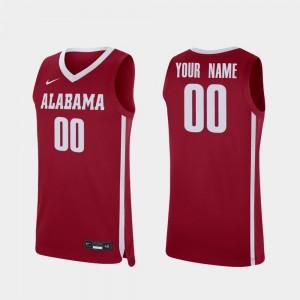 #00 College Custom Jerseys Replica Bama Basketball For Men's Crimson