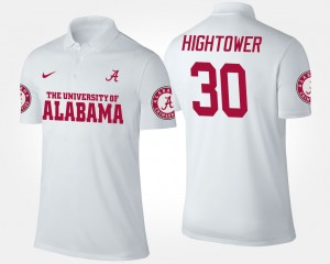 #30 Men's Bama White Dont'a Hightower College Polo