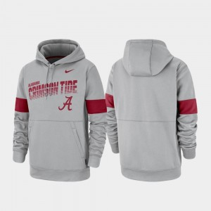 For Men Gray College Hoodie Pullover Performance Bama