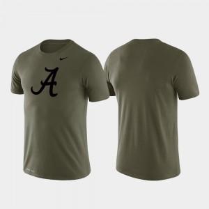 Green College T-Shirt Performance For Men's University of Alabama Tonal Logo Legend