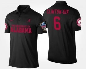 #6 Roll Tide Sugar Bowl For Men's Bowl Game Ha Ha Clinton-Dix College Polo Black