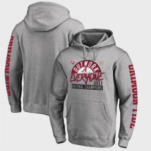 College Hoodie Bama Football Playoff 2017 National Champions Motion Heather Gray Bowl Game Mens