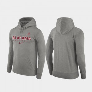 Football Practice College Hoodie Performance Alabama Heathered Gray For Men's