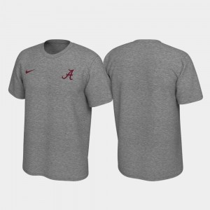 Roll Tide Men Left Chest Logo College T-Shirt Heathered Gray Legend