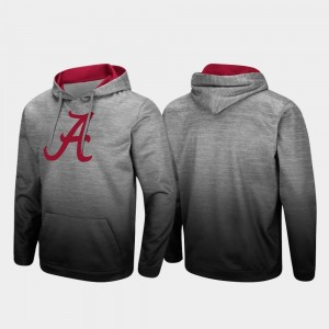 For Men's College Hoodie Sitwell Sublimated Pullover Bama Heathered Gray