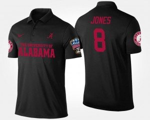 Sugar Bowl Bowl Game Men's Black Julio Jones College Polo Alabama Crimson Tide #8