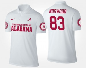 Bama Kevin Norwood College Polo White #83 For Men