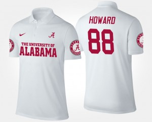 #88 Alabama Roll Tide Men O.J. Howard College Polo White