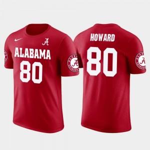 Tampa Bay Buccaneers Football Red O.J. Howard College T-Shirt For Men University of Alabama #80 Future Stars