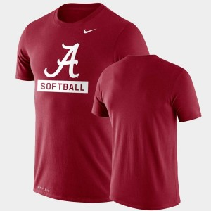 Drop Legend College T-Shirt Crimson Performance Softball Men Alabama