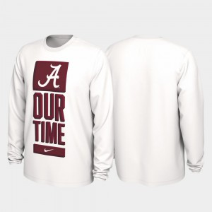 Our Time Bench Legend White Bama College T-Shirt Mens 2020 March Madness