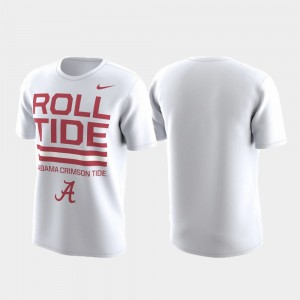 Men Roll Tide Local Verbiage College T-Shirt White Performance