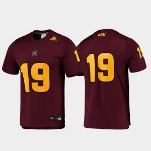 Maroon ASU For Men Replica Football College Jersey #19