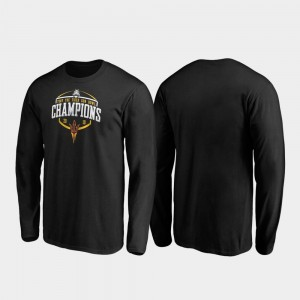 2019 Sun Bowl Champions Men's Sun Devils Corner Long Sleeve College T-Shirt Black
