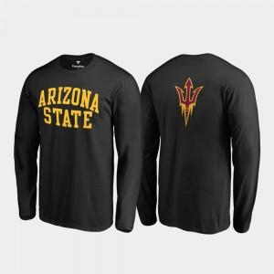 College T-Shirt Black Arizona State University Mens Long Sleeve Primetime