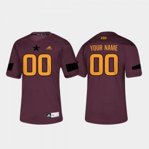 College Customized Jerseys #00 Football Men's Maroon Arizona State