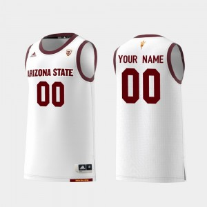 Replica Basketball #00 Arizona State Sun Devils Men's White College Customized Jerseys