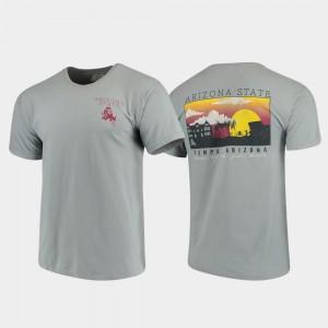 Comfort Colors Arizona State College T-Shirt Gray Campus Scenery Men's