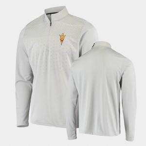College Jacket Men's Arizona State Gray UPF Quarter-Zip