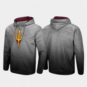 Pullover ASU Heathered Gray Sitwell Sublimated For Men College Hoodie