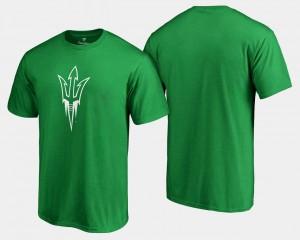 Kelly Green Arizona State University White Logo Big & Tall For Men St. Patrick's Day College T-Shirt