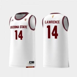 #14 Kimani Lawrence College Jersey Men White Arizona State Replica Basketball