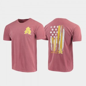 Baseball Flag Maroon Comfort Colors College T-Shirt Mens Arizona State Sun Devils