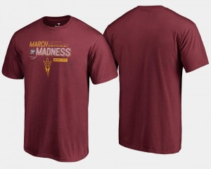 For Men's Basketball Tournament Arizona State University 2018 March Madness Bound Airball College T-Shirt Maroon
