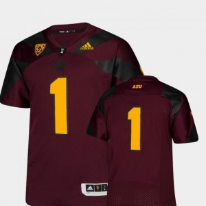 College Jersey Football For Men's Arizona State Maroon #1 Premier