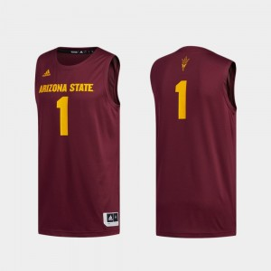 Basketball Swingman Swingman Basketball Maroon Men's Arizona State #1 College Jersey