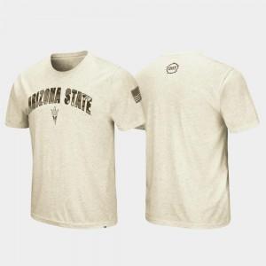 Arizona State Sun Devils OHT Military Appreciation Desert Camo Oatmeal College T-Shirt For Men's