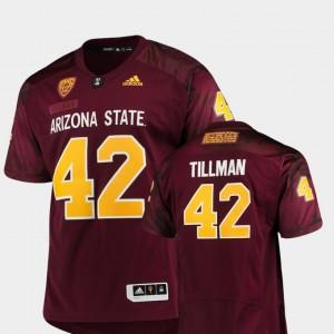 #42 ASU Pat Tillman College Jersey Maroon Special Premier Game Men