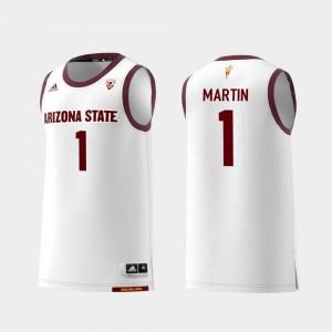 Replica Arizona State Sun Devils Remy Martin College Jersey For Men White Basketball #1