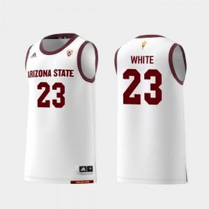 Replica Mens Romello White College Jersey #23 White Arizona State Basketball