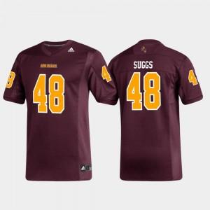 #48 Replica Terrell Suggs College Jersey Alumni Football For Men Maroon Arizona State