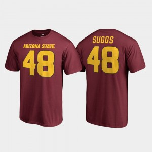 Arizona State Legends Terrell Suggs College T-Shirt Maroon For Men Name & Number #48