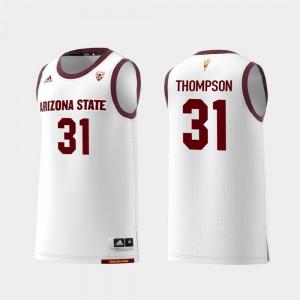 White #31 ASU Men Replica Basketball Trevor Thompson College Jersey